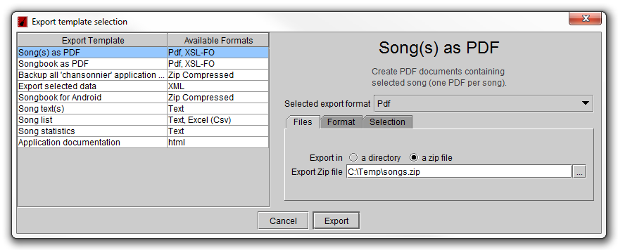 songs in zip file